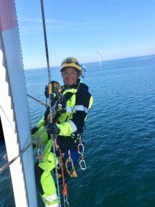 female wind turbine technician, offshore wind